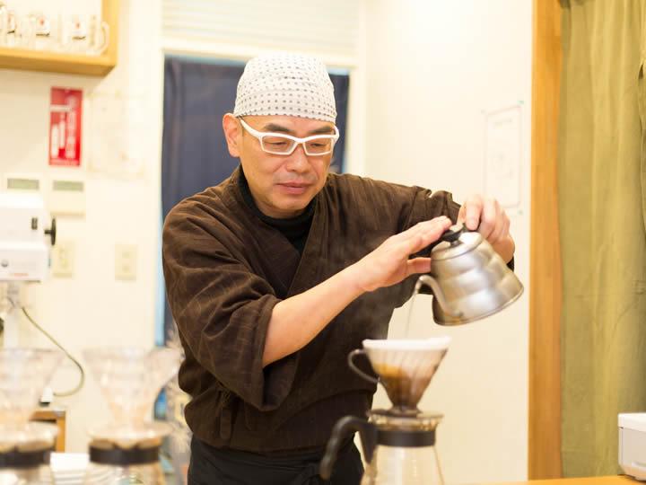ペーパードリップのコーヒー